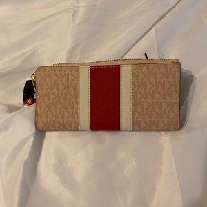 Michael Kors pink red white wallet